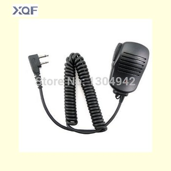 New Handheld Mic Microphone Speaker for 2 Pin for ICom Yaesu Vertex two way Radio IC-F10/F11/F12/F20/21 IC-F22 IC-F3 IC-F33GS цена 2017
