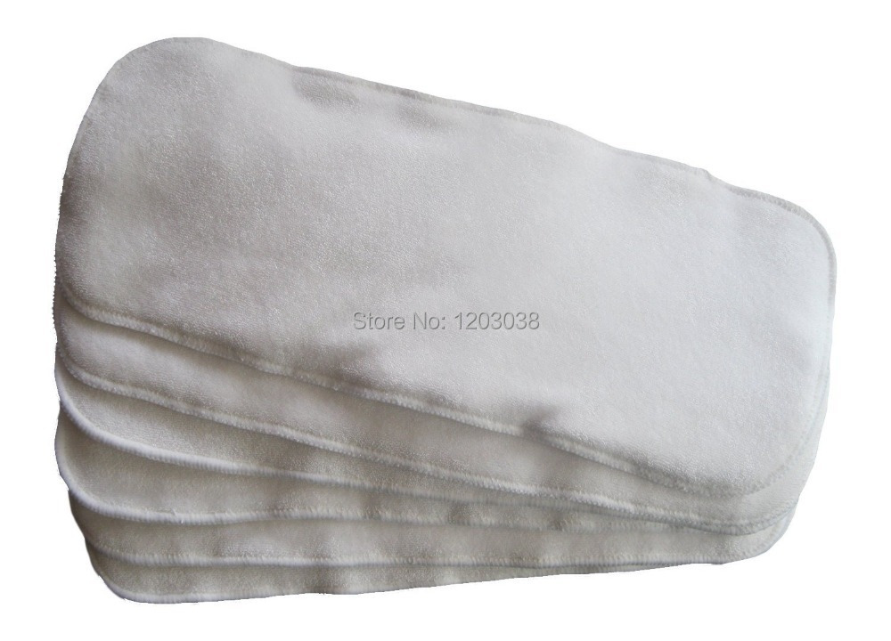 4 слоя бамбуковые махровые вставки для всей детской ткани памперсы подгузники многоразовые большие 36*14 см 10 шт./партия