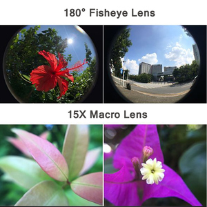 Image 3 - 2 in 1 15X ماكرو واسعة عدسة عين السمكة طقم كاميرا ل DJI oomo عمل عدسة زجاجية بصرية Vlog اطلاق النار عدسات إضافية اكسسوارات