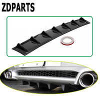 ZDPARTS Car Shark Fin 7 Wings Bumper Spoiler Stickers For Mercedes w203 mercedes w204 benz 211 AMG Smarta bmw e46 e39