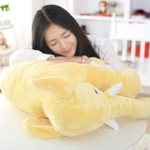 creative plush elephant pillow lovely yellow elephant doll gift doll about 52x45cm