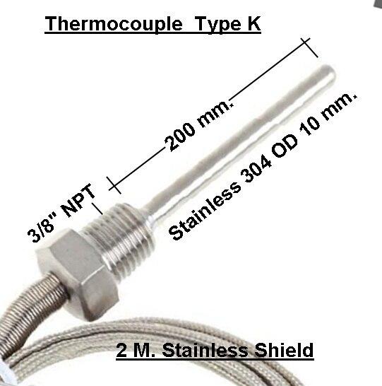 Type K thermocouple Chart