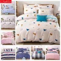 Cute Bird Pattern Duvet Cover 3/4 pcs Bedding Set Lover Child Kids Child Soft Cotton Bed Linen Single Full Queen King Size Sheet