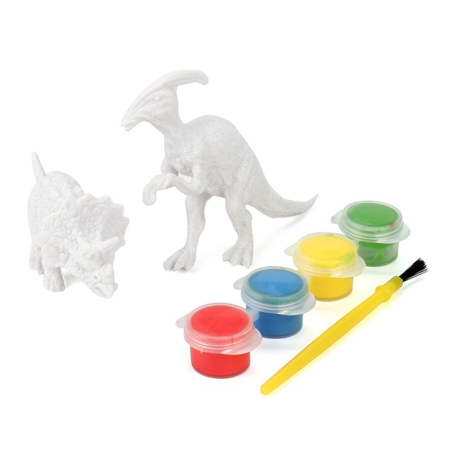 Color Dinosaur Toys DIY Coloring Painting Animal Model Drawing Graffiti toy Early Childhood Intelligence Development Toy Cherryb