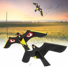 Black Flying Hawk Kite Bird Scarer For Garden Scarecrow Yard House Home Decor Singer