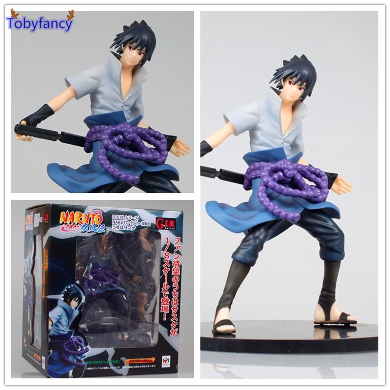 Tobyfancy Anime Naruto Action Figure Sasuke Figure Anime Naruto Uchiha Sasuke Sharingan Action Figure Collectibles Toy anime naruto brinquedos action
