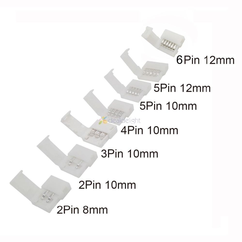 LED Strip Connectors 2pin 8mm / 2pin 10mm / 4pin 10mm / 5pin 10mm / 5pin 12mm / 6pin 12mm Free Welding Connector 5pcs/lot. 7 16 gx12 aviation circular connector 2 pin 3pin 4pin 5pin 6pin 7pin male plug