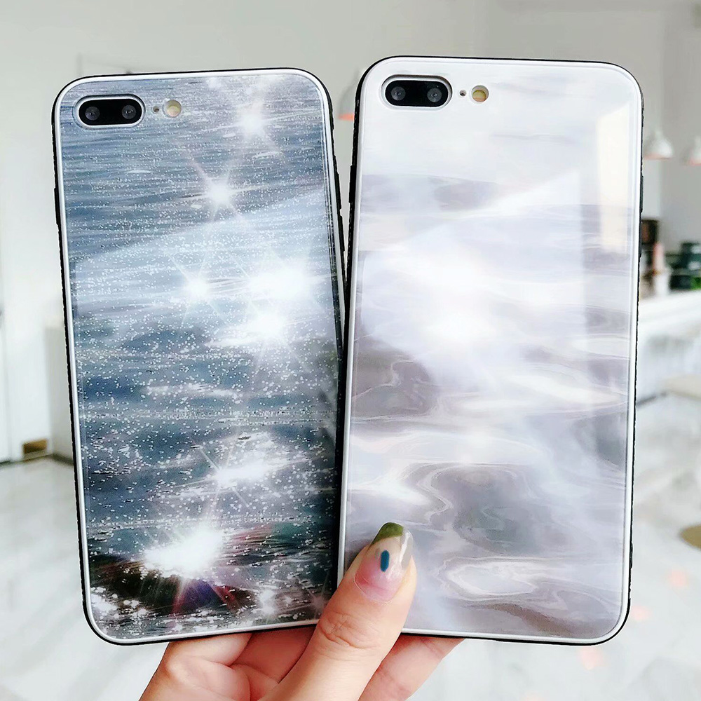 KIP7P1343_7_JONSNOW Phone Case for iPhone 7 Plus 8 6 6S X XR XS Max Tempered Glass Back Cover Anti-slip Soft Edge All-inclusive Protect Case
