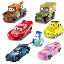 Disney Pixar Cars 3 Toys Lighting McQueen Jackson Storm Master Mack Cruz Ramirez Poster Diecast Metal Alloy Model Cars For Boys