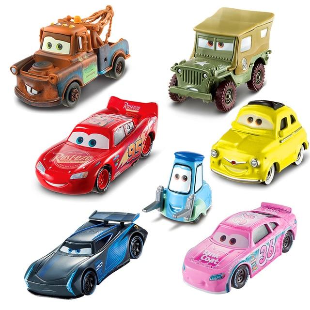 Disney Pixar Cars 3 Toys Lightning Mcqueen Jackson Storm Master Mack