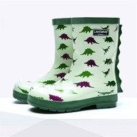 Dinosaurier Druck Schuhe für Kinder Frühling und Herbst Jungen Cartoon Gleitschutz Regen Stiefel kinder Wasserdichte Gummi Rainshoes-in Stiefel aus Mutter und Kind bei
