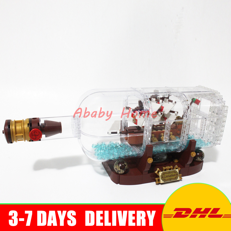 IN STOCK Lepin 16051 1078Pcs Movie Series The 21313 Ship in a Bottle Set Building Blocks Bricks Funny Toys Kid Birthday Gifts lepin 16051 toys 1078pcs ship in a bottle legoingly 21313 sets building nano blocks bricks funny toys for kids birthday gifts
