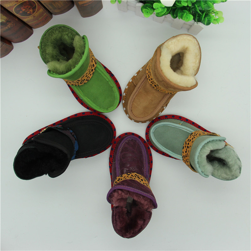 2017Children Real Goat Fur Boot Baby Boy gril Winter Snow Boots Kids Fur Snow Boots Shoes Geanuine Leather Australia Ankle Boots kelme 2016 new children sport running shoes football boots synthetic leather broken nail kids skid wearable shoes breathable 49