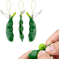 Funny bored venting decompression beans toys squishy squeeze peas pendants keychain anti stress against irritable bean.jpg 200x200