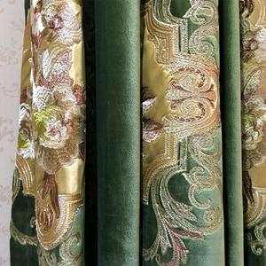 Image 4 - Lujosa tela bordada de terciopelo Euro para cortinas, paneles de tela para cortinas, tapicería, 280cm de ancho, removible con riel