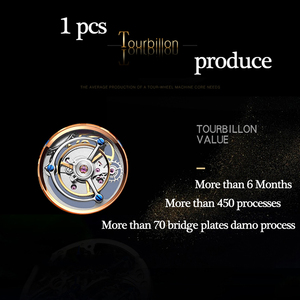 Image 4 - Tourbillon GUANQIN Men watches top brand luxury real Tourbillon clock men Sapphire Hand Wind mechanical watch Relogio Masculino