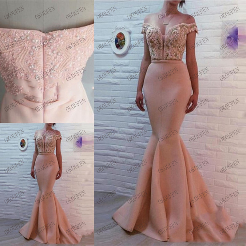 Hot Sweetheart Neck Mermaid Prom Dresses Zipper Back Crystal Beaded Satin Sweep Train Evening Dresses Gowns Party Dresses Robe De Bal??