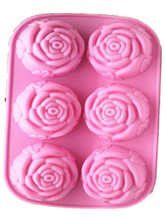 Wholesale roses silicone cake pudding jelly mold silica gel soap molds