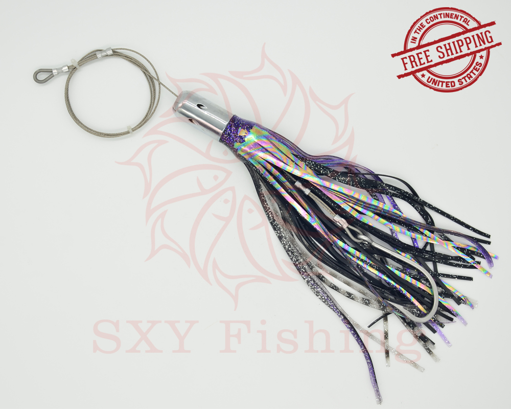 SXY fishing D35 Metal Head Lure Metal Trolling Lure Weight 7 octopus lure Ship bait Deep sea fishing lure Big Sport Fishing