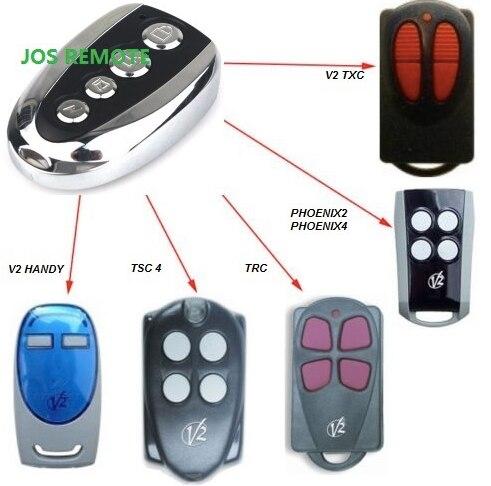 V2 compatible remote for V2 garage door remote ,model V2 TXC ,phoenix2,phoenix4,TSC4,TRC,V2 handy remote bask vinson pro v2