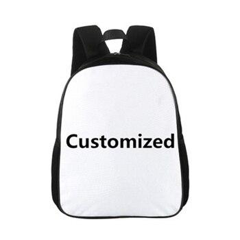 CROWDALE 15 cali dostosuj swoje Logo nazwa obraz maluchy plecak Cartoon dzieci szkolne torby dziecko plecak przedszkolny dla dzieci