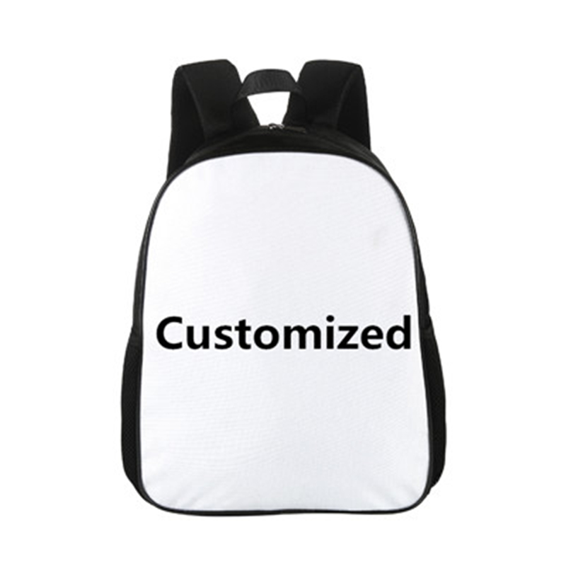 Crowdale 15 Inch Customize Your Logo Name Image Toddlers Backpack Cartoon Children School Bags Baby Kindergarten Backpack Kids