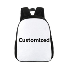 CROWDALE 15 inch Hip-hop Print School Bags For Boys Customizer Children School bag Kid Kindergarten Baby Book Bag Mochila Infant