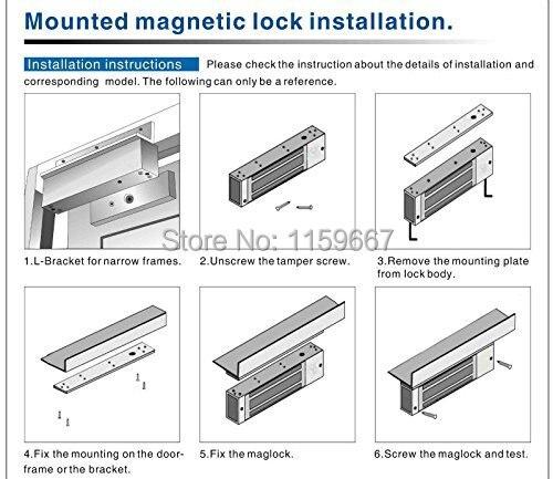 zl bracket 280kg 600lbs aluminum material magnetic lock l z bracket rh aliexpress com magnetic door lock wiring instructions Magnetic Powered Locks
