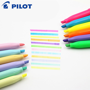 Image 2 - 6Pcs Pilot FriXion Licht Löschbaren Highlighter leuchtstoff stift SFL 10SL 6 Weiche Farbe Tinte Schreiben Liefert