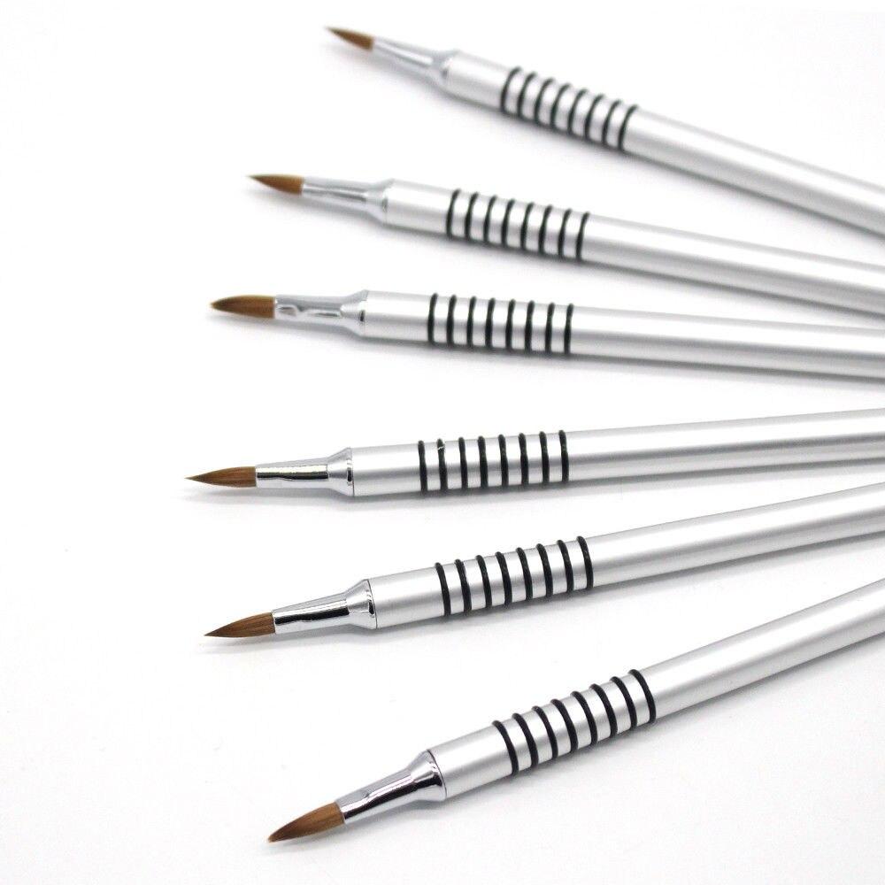 PRO 100 Pure Kolinsky Acrylic 3D Nail Art Brush UV Gel Carving Pen Brush Liquid Powder DIY Nail Drawing Tools in Paint Brushes from Office School Supplies