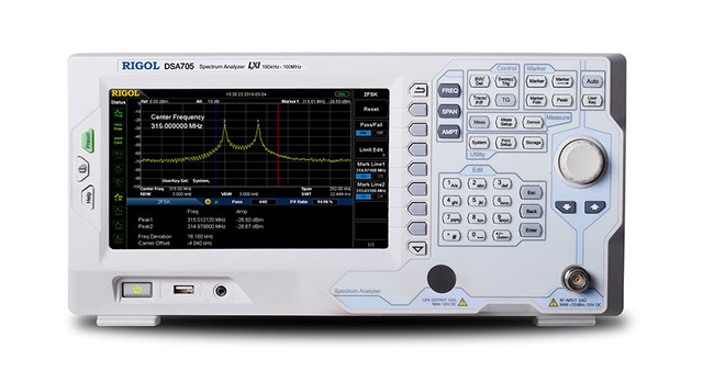 Rigol DSA705 500 1050mhz スペクトラムアナライザ