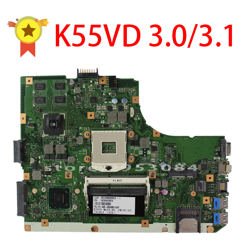 Original K55V K55VD Motherboard for Asus K55VD r500vd REV3 0 3 1 Mainboard GT610 2G PGA989