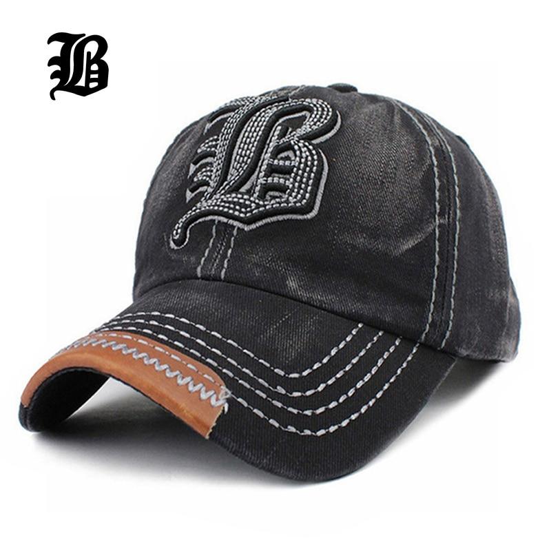 FLB  venta al por mayor de gorra de béisbol hueso carta FLB bordado gorra  sombrero del Snapback Gorras sombreros para hombres y mujeres Hombre sólido  F213 860831a9b86