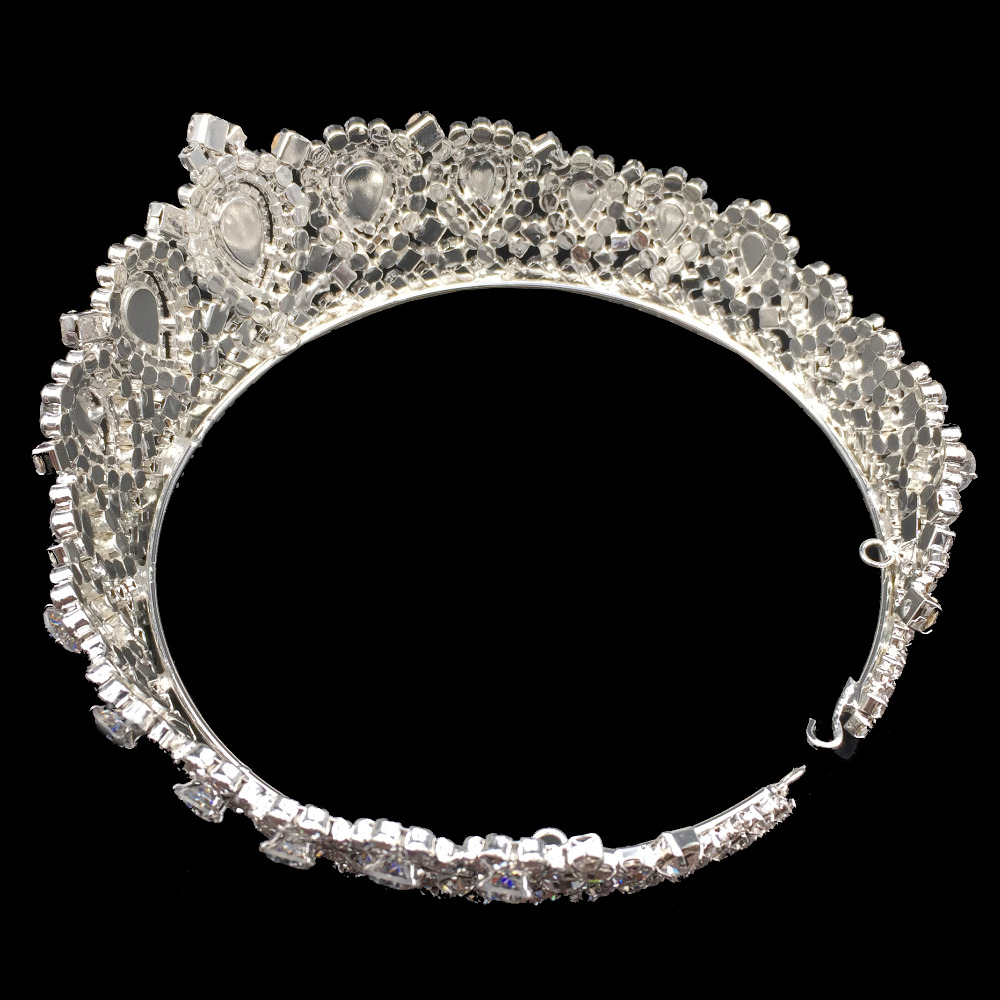 Image 5 - Hadiyana New Bling Wedding Crown Diadem Tiara With Zirconia Crystal Elegant Woman Tiaras and Crowns For Pageant Party BC3232-in Hair Jewelry from Jewelry & Accessories