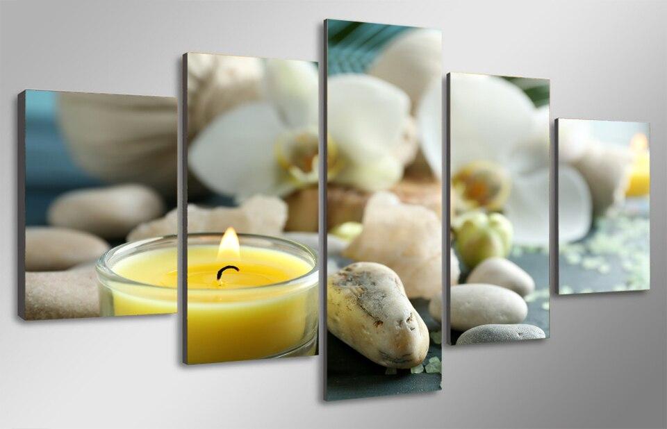 Koop hd gedrukt spa stilleven wellness relax schilderij kinderkamer decor print - Schilderij salon idee ...