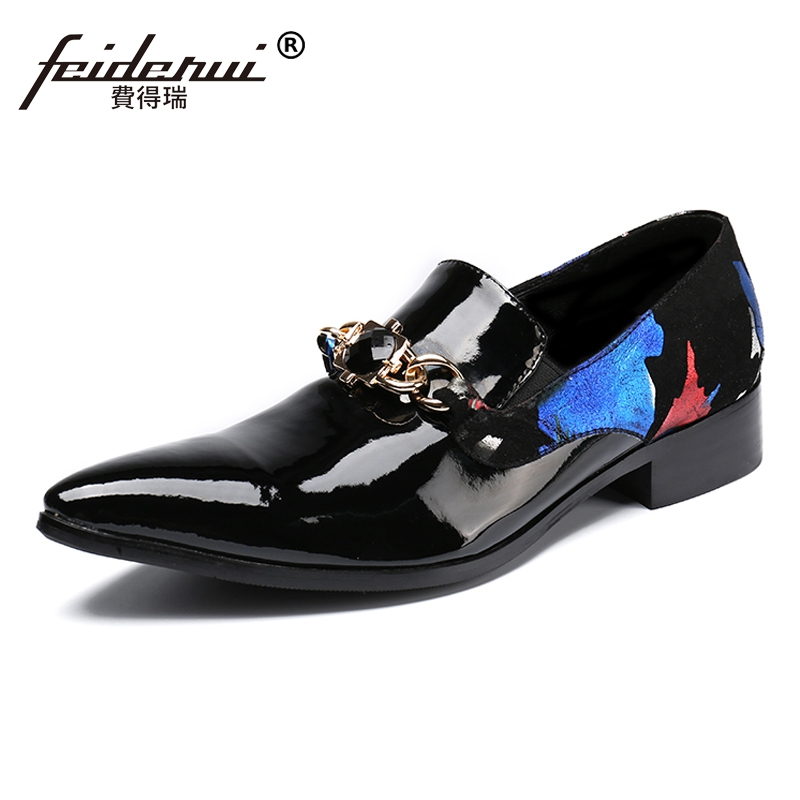 Plus Size Black Pointed Toe Slip on Male Rhinestone Loafers Elegant Patent Leather Italian Party Men's Runway Shoes For Man SL36 original for asus 69nb06p0 m82300 69n0rbm1da00 x550md motherboard rev 2 0 n2940u 4gb 100% fully tested