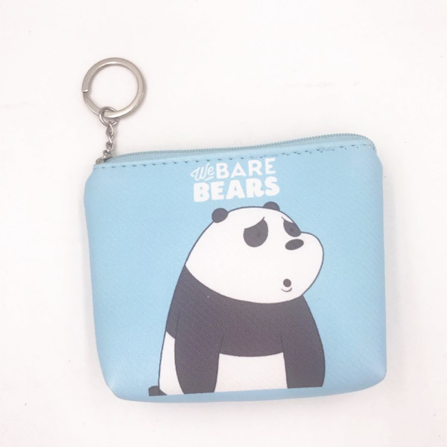 2018 carton We BARE BEARS blue coin pocket mini money bag C001