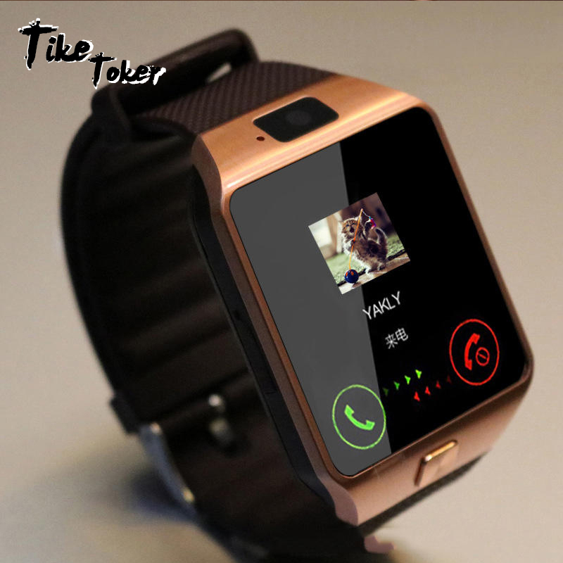 TIke Toker Smart Watch 2018 Gold Orange White Black Smartwatch Bluetooth Watches For IOS Android Iphone SIM Card Camera