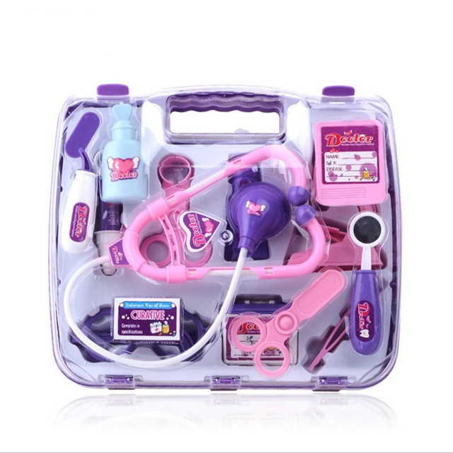 Lovely Pretend Doctors Toys Set, 15pcs/lot Plastic Medicine Box Doctor Kit Toys For Children Nurse Roleplay Baby Toys Brinquedos