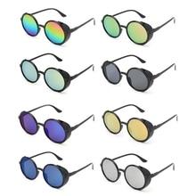 Steampunk Polarized Sunglasses Round Fashion Driving Eyewear Vintage Brand Designer UV400