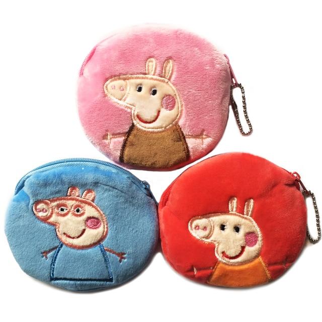 91f72b1db12ca 3D Mädchen Brieftasche Rosa Schwein Tasche Kinder Reißverschluss Geldbörsen  Cartoon kinder Geldbörse Plüsch bolsa de moeda