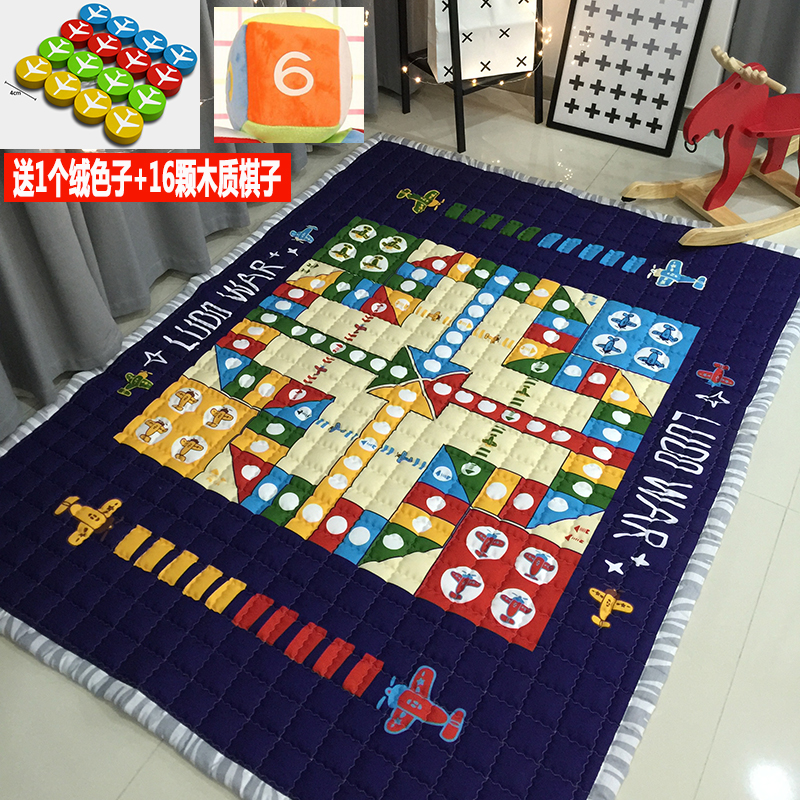145*195cm Baby Play Mat Girl Boy Crawling Mat Baby Bedroom Carpet Rug Cartoon Developing Mat for Children Game Pad Floor Rug цены