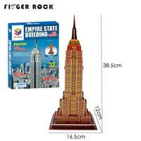 Finger Rock DIY Empire State Building Model 3D Architecture Paper Puzzle Children Handmade Cardboard Oyuncak Early