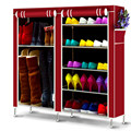 Nonwovens Double Row Shoe Cabinet DIY Assemble and install Shoe Rack