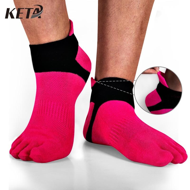 KETA Fashion Colorful Brand Men Toe Socks Male Casual Cotton Five Finger Socks For Man Crew Business Dress Socks (6Pairs/lot)