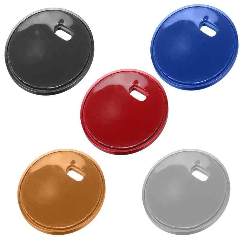 Interruptor de botón de arranque y parada de motor de aluminio de cinco colores para coche, reemplace la tapa de la cubierta adhesiva para Mazda3 Axela CX-3/4/5