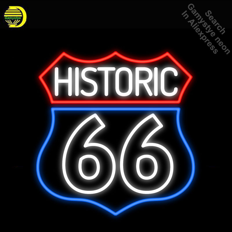 Neon Signs for Historic Route 66 Neon Light Sign Handcrafted Neon Bulbs sign Glass Tube Decorate