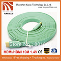 Free shipping+10M/33FT Full 1080P 3D Flat HDMI Cable 1.4v male to male for XBOX /PS3 HDTV