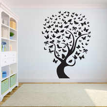Tree Wall Decal Sticker Bedroom tree of life roots birds flying away home decor yoga studiodecor A7-009