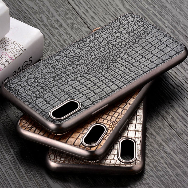 <font><b>Luxury</b></font> <font><b>case</b></font> for <font><b>iPhone</b></font> X XR XS Max soft Chromed TPU material & crocodile PU leather skin covers coque fundas for <font><b>iphone</b></font> xr image